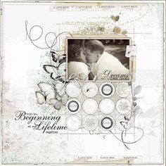 lovely scrapbook page by Amy Mallory at DesignerDigitals.com