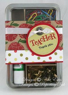 teacher gift tin