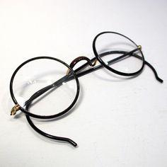 1920s Authentic Windsor Eye Glasses  Signed Tortoise Celluloid Lennon Glasses