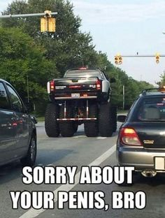 That's why you always wanted/dreamed of that big truck. Lmbo