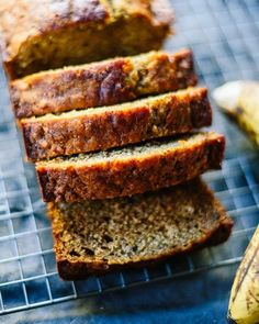 Healthy Banana Bread – This banana bread recipe calls for honey or maple syrup to add the extra touch of sweetness. Get the recipe from Cookie and Kate.