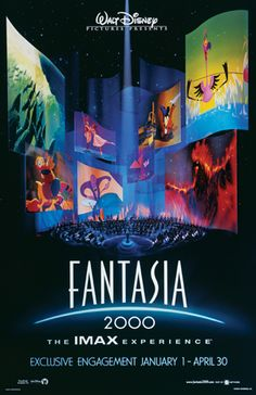 Fantasia 2000 soundtrack from composed by Various Artists. Released by Walt Disney Records in 1999 containing music from Fantasia 2000 Disney Films, Disney Pixar, Walt Disney Animated Movies, Animated Movie Posters, Disney Movie Posters, Cinema Posters, Walt Disney Animation, Animation Film, Animation Studios