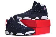 New Shoes 2014 | 2014 Nike Air Jordan XIII 13 Retro Mens Shoes New Dark Blue 02 2