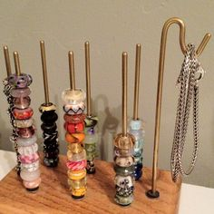 Bead stand for Trollbeads, Pandora or Chamilia beads Bead Storage, Jewellery Storage, Ring Dish, Troll Beads, Pandora, Container, Bling, Diy Crafts, Candles
