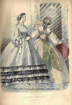 Fashionable Friday - 1860's Trenton, NJ Woman -Fashion plate from Petersons Magazine April 1862 - Forgotten Faces and Long Ago Places:  http://forgottenfacesandlongagoplaces.blogspot.com/2012/06/fashionable-friday-1860s-trenton-nj.html#