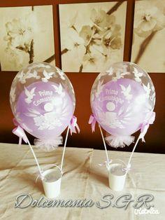 #dolcemania #palloncini #puglia #sangiovannirotondo #balloons #balloon #foggia #gargano #italia #italy #lilla #comunione #primacomunione #centrotavola