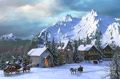Alpine Christmas Digital Art