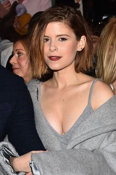 Kate Mara's oxblood lip and rumpled bob. See 9 other celebrities whose late-winter beauty looks stunned.