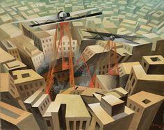 Tullio Crali - Bombardment Urbano