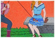 'La novia del pescador' Acrílico/cartulina, 29,9 x 20,4 cm, Lien Carrazana Lau, 2013.
