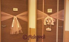 Wrapping a door in tulle! For any occasion!