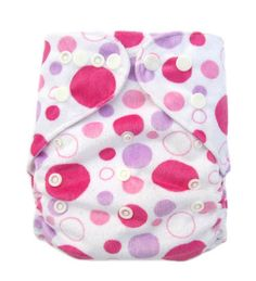 Honest Pink Disco Dots 100% Cotton Pul Fabric For Nappies & Wetbags Diapering Cloth Diapers
