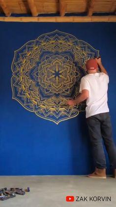 Mandala On Wall, Mandala Canvas, Geometric Mandala, Mandala Artwork, Mandala Painting, Mandala Drawing, Sacred Geometry Patterns, Sacred Geometry Art, Complex Art