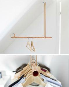 Indretningsideer til en weekend fuld af DIY projekter - Best Home Idea Mini Dressing, Creative Inventions, Diy Inspiration, Garment Racks, Ideias Diy, Diy Décoration, Diy Interior, Interior Design, Clothes Hanger