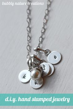 D.I.Y. Hand stamped Jewelry!  I know what I will be giving to all my friends  this year!