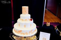 A cake modeled after the   Stella & Dot - Chantilly Lace Cuff at the Clarksville Brides Wedding and Event Showcase