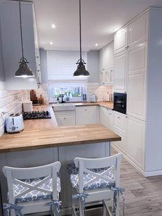 Luxury Kitchen Design, Kitchen Room Design, Home Room Design, Living Room Kitchen, Kitchen Layout, Home Decor Kitchen, Interior Design Kitchen, Home Kitchens, Small Apartment Kitchen