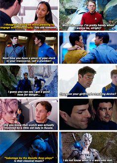 Star Trek Beyond | Spock, Uhura, Scotty, Bones, Kirk, Chekov and Jaylah