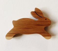 Wooden Bunny Teether Natural Rabbit Teething by Imaginationkids, $12.00