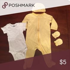 0-3 months matching set Excellent condition, 0-3 months matching set with white onesie Matching Sets