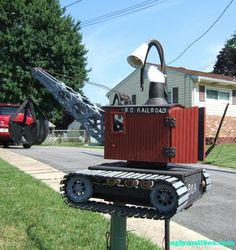 Crane mailbox (B.O. Railroad) #mailbox #tread #crane