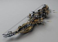 The digital artist created a collection of few steampunk weapon designs he calls Heretic Set. It's n