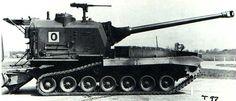 T97 - american prototype of self-propelled gun, armed in 155 mm T80 gun