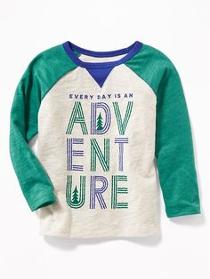 Wilderness-Graphic Raglan Tee for Toddler Boys