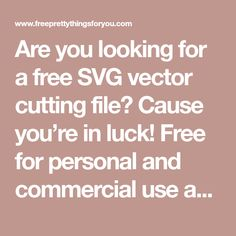 Are you looking for a free SVG vector cutting file? Cause you're in luck! Free for personal and commercial use and it's perfectly compatible with ID 85537