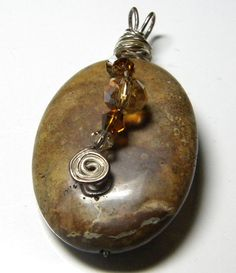 Wire Wrapped Pendant by PrayerfullyMade4You on Etsy, $22.99