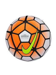 Nike Ordem 3 Match Soccer Ball - White and Orange Nike Soccer Ball, Soccer Gear, Soccer Boots, Soccer Games, Play Soccer, Soccer Cleats, Football Boots, Nike Cleats, Soccer Tips