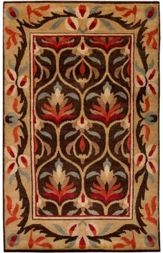 Shop for Hand-knotted Multi Colored Floral Argentine New Zealand Wool Area Rug - x Get free delivery On EVERYTHING* Overstock - Your Online Home Decor Store! Craftsman Rugs, Craftsman Style, Craftsman Homes, Craftsman Decor, Arts And Crafts House, Home Crafts, Decoration, Art Decor, Clearance Rugs