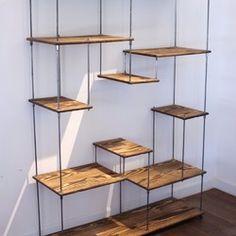 wood iron shelf 1100*1200*225 棚・シェルフ・ラック 造形壱國 ikoku ハンドメイド通販・販売のCreema