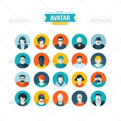 Set of Avatar #Flat_Icons | Buy and Download: http://graphicriver.net/item/set-of-avatar-flat-icons/7766065?WT.ac=category_thumb&WT.z_author=PureSolution&ref=ksioks