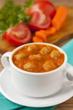 Starter Recipe: Basil Tomato Soup and Turkey Meatballs