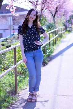 A pair of Gap jeans, as featured on the blog Piece Of Cake, Peace Of Mind.