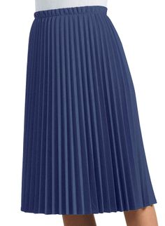 Accordian blue pleated skirt