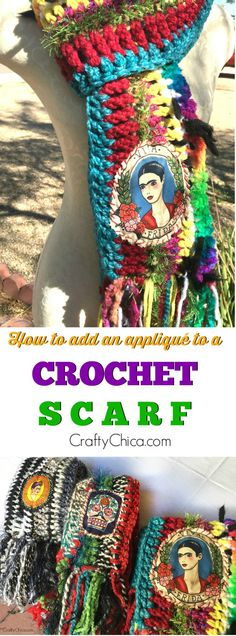 How to add an applqiue to your crochet, CraftyChica.com