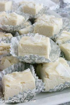 Low Carb White Chocolate Fudge made #sugarfree #glutenfree #lowcarb and Super Soft!
