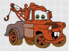 COZYCONCEPTS+MATER+RACE+CARS+CROCHET+PATTERN+AFGHAN+GRAPH
