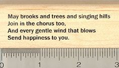 St Patricks Day Blessing Rubber Stamp May brooks and trees and singing hills ** Want to know more, click on the image.
