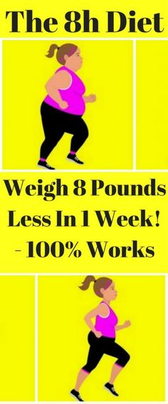 The 8h Diet – Weigh 8 Pounds Less In A Week!