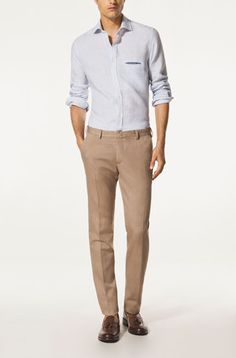 COTTON AND DYED LINEN JEANS - Special Events - GARMENT - MEN - Greece