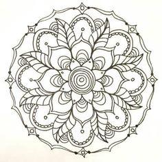 My Works Coloring Pages Mandalas Colouring Printable Books Sheets
