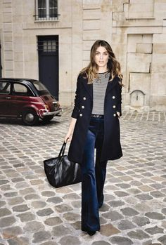 I love the cool &sophisticatedstyle, reminiscent of the 70's, in these photographs ofElisa Sednaoui by Angelo PennettaforGérard Darel. xx debra      via ykone