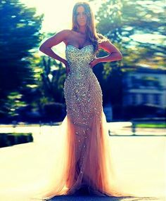Flowing Mermaid gown