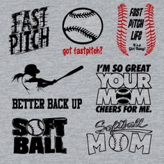 Fast Pitch Softball T Shirts Vector Set 09903 by Download Vector
