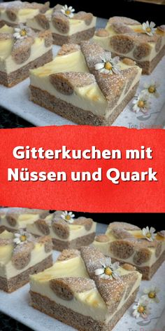 Gitterkuchen mit Nüssen und Quark When I asked my son if he would rather have a yogurt or a banana a 1200 Calorie Diet, 1200 Calories, 7 Day Meal Plan, Portuguese Recipes, Health Desserts, Plated Desserts, Toffee, Oreo, Food Videos