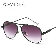 cc3ebb22bbe ROYAL GIRL Metal Retro Sunglasses Women Brands