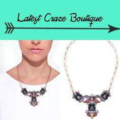 JEWELMINT Turning Leaf Necklace •PRICE FIRM• THIS IS GORGEOUS!!!!!!!!!This has dark hued stones and rustic gold plating. Gold tone chain with navy, maroon, bronze and grey accents, 17.5in(L) with 3in extender and 7in neck drop, lobster claw closure. Jewelmint Jewelry Necklaces